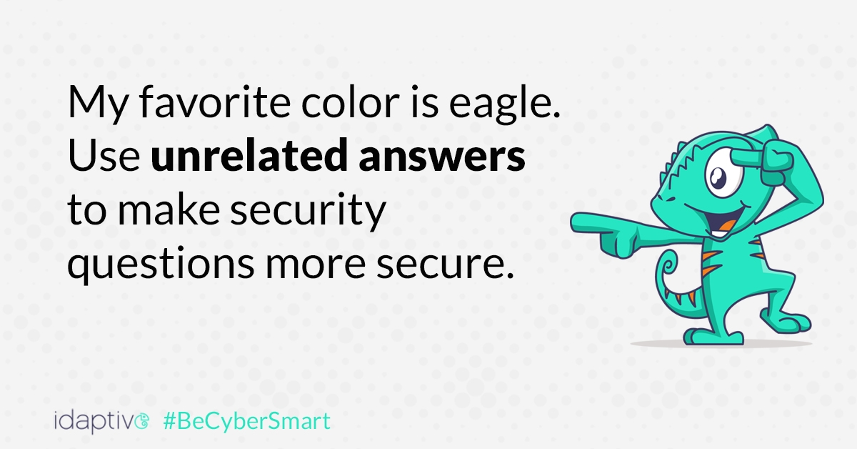 Make security questions more secure